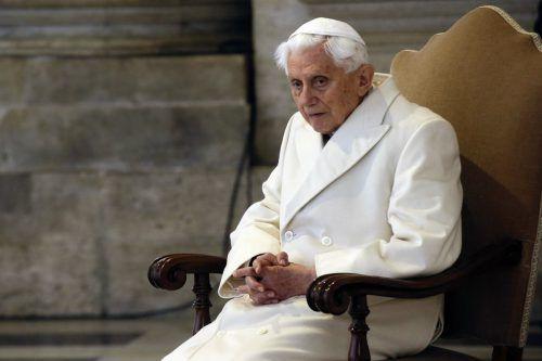 Seit 2013 lebt der emeritierte Papst Benedikt zurückgezogen im Vatikan. AP