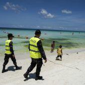 Philippinen machen Insel dicht