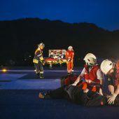 Rettungshubschrauber in Not