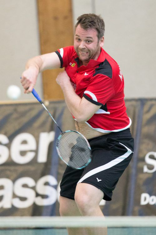Spielertrainer René Nichterwitz-Erath trifft mit dem Raiffeisen UBSC Wolfurt in der Best-of-three-Finalserie der Badminton-Bundesliga auf Traun.VN/Sams