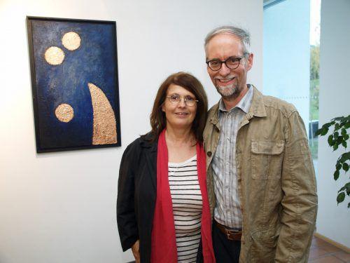 Unter den Gästen: Buchautor Gerhard M. Walch mit Cornelia.