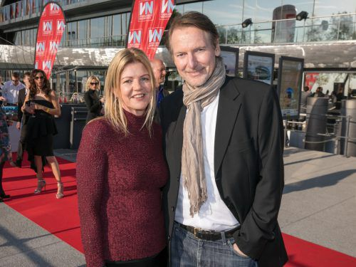 Vertreter von Wolford: Sabine Büttner-Winner mit Stephan.