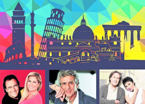 """VN-Abonnenten können 5 x 2 Karten gewinnen für """"La Notte Italiana"""" mit Al Bano und Romina Power, Toto Cutugno und Ricchi e Poveri.veranstalter"""