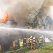 Ferienhaus in Flammen