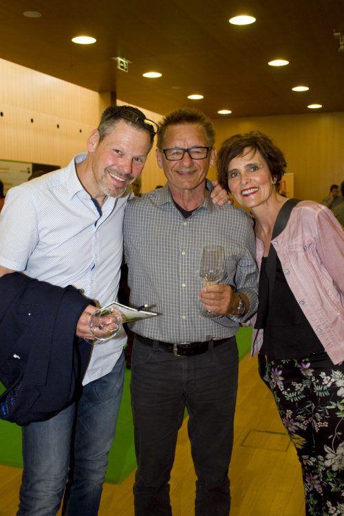 Walter Hinteregger (M.) mit Manfred und Ingrid Gebhart.