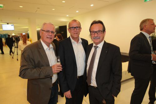 Wolfgang Beck, Walter Gohm und Walter Eberle (v.l.) waren Gäste von Raiffeisen.