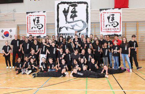 200 Sportler aus dem In- und Ausland zeigten beim Turnier von Veranstalter Taekwondo Mustang in der Sporthalle Reichenfeld ihr Können. Verein