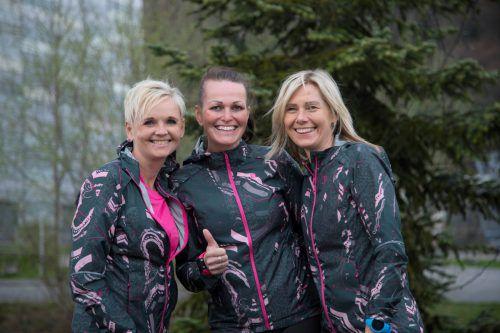 Alexandra Grabher, Nadja Scherer und Carmen Steurer (v. l.) wollen ihre Trainingsleistungen beim Frauenlauf umsetzen. VN/Paulitsch