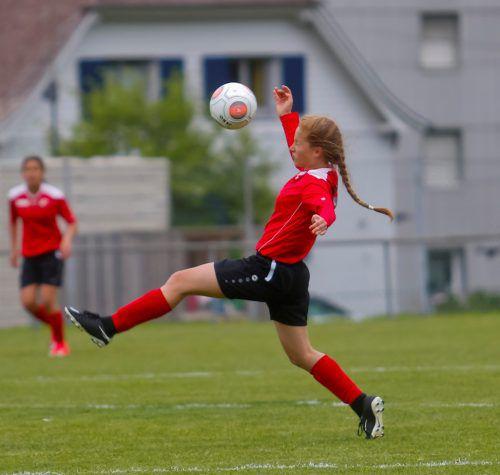 Amelie Roduner vom FC Klostertal spielt in der VFV-U-14-Mädchenauswahl.Paulitsch