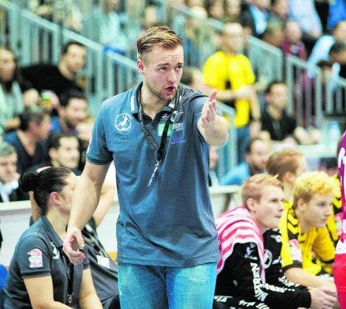Auf Coach Jörg Lützelberger wartet in den nächsten Monaten viel Arbeit, um den Rekordmeister wieder in die Erfolgsspur zu bringen.VN/Sams