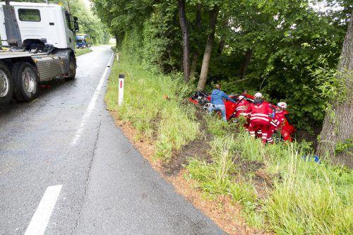 Bei dem Unfall wurde eine 42-jährige Frau aus Bregenz verletzt. Mathis