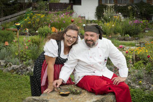 Bettina und Jeremias Riezler halten regionale Lebensmittel und die regionale Küche in zeitgemäßer Form hoch. Ausprobieren.Servus/Krug