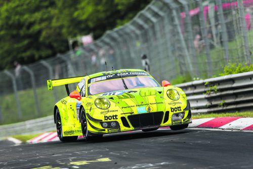 Bis zum Ausfall auf Siegkurs: Kévin Estre im Manthey-Porsche-911-GT3-R. porsche