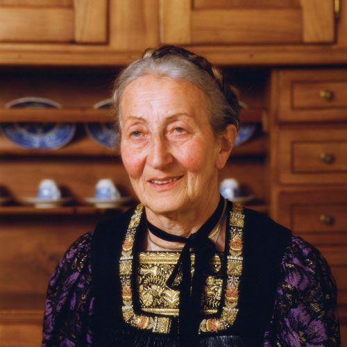 Bregenzerwälder Mundart-Dichterin Klara Schwendinger (1918 – 2007).