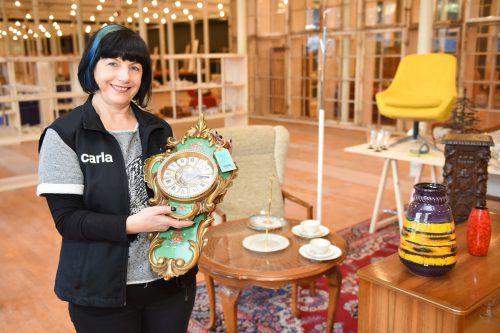Carla-Store-Leiterin Christine Erath sieht dem ersten Re-Use-Sammeltag in Bludenz mit großer Vorfreude entgegen. Caritas/Mittelberger