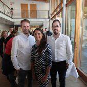 """<p class=""""caption"""">Christoph Schöch (l.) mit Nicole Scheichl und Manuel Berninger.</p>"""