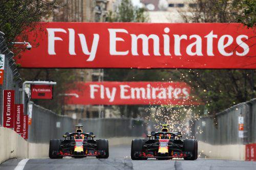 Daniel Ricciardo und Max Verstappen fahren in Monaco für Red Bull Racing den 250. Grand Prix in der Formel-1-Geschichte.gepa