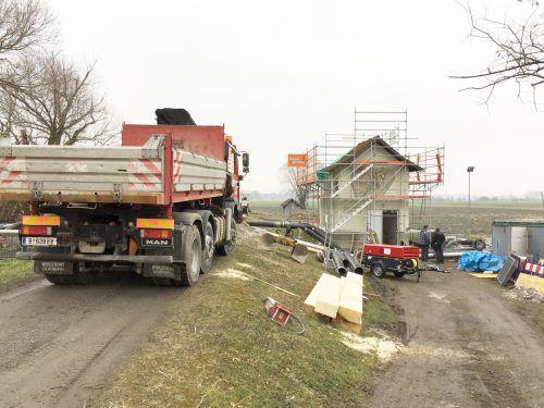 Das Schöpfwerk Gaißau wurde bereits umgebaut und saniert. In diesem Jahr folgt Höchst, 2019 werden die Pumpen im Schöpfwerk in Fußach erneuert.