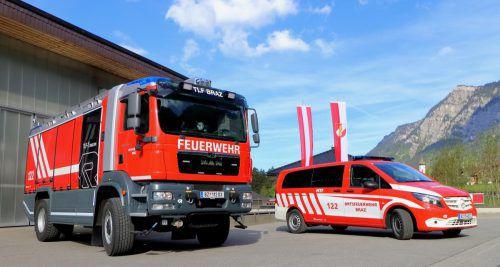 Das Tanklösch- und das Mannschaftsfahrzeug der Feuerwehr Braz werden am Sonntag feierlich ihrer Bestimmung übergeben. Feuerwehr