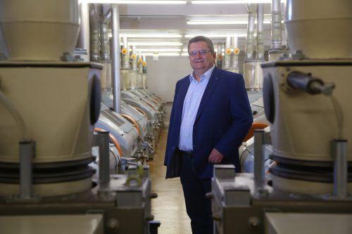 Dass die Fusion dreier Mühlenbetriebe funktioniert, liege auch an der guten Zusammenarbeit der handelnden Personen, so Franz Rhomberg.VN/HB