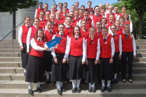 Den Sieg in der Stufe B holte sich der Musikverein Bizau. Der Verein wird sich im Oktober beim Bundeswettbewerb mit Musikanten aus ganz Österreich messen. Blasmusikverband