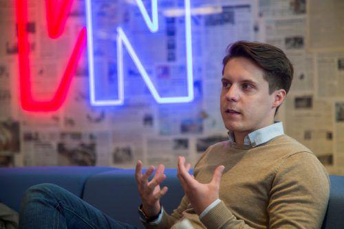 Der gebürtige Vorarlberger Lukas Kirchmair (27) ist Leiter des operativen Geschäfts bei Three Coins. VN/Paulitsch