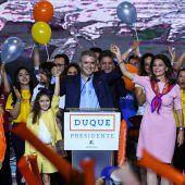 Duque gewinnt erste Runde der Wahl