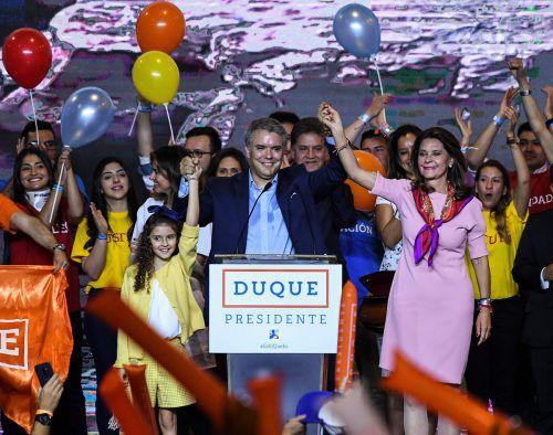 Der konservative Kandidat liegt derzeit vor seinem linken Rivalen. AFP