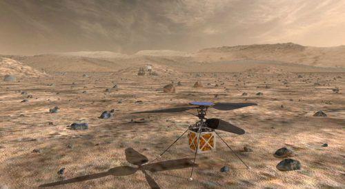 Der Mini-Helicopter soll während der Mission selbsttätig fliegen. reuters