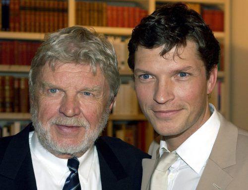 Der Name ist Fluch und Segen zugleich: Hardy Krüger jr. mit seinem Vater, dem Schauspieler und Weltstar Hardy Krüger sen. APA