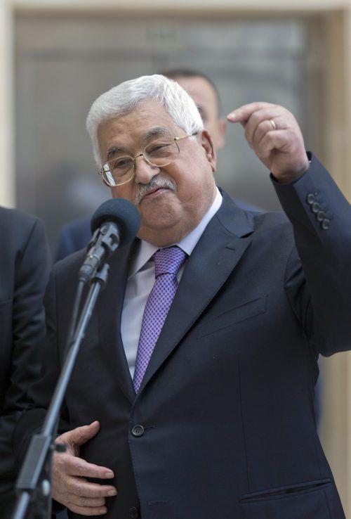 Der Palästinenserpräsident wurde wegen einer Lungenentzündung behandelt. AP
