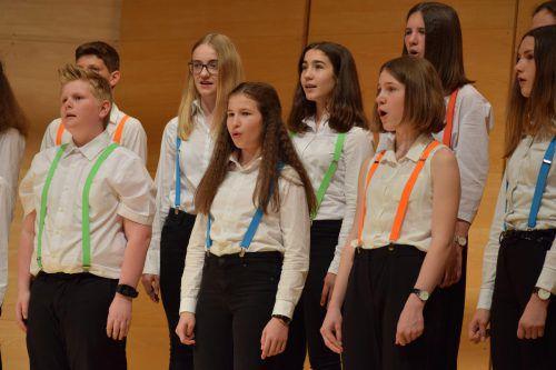 Der Schulchor Cantoccini bewies im Angelika-Kauffmann-Saal in Schwarzenberg einmal mehr sein großes Können.