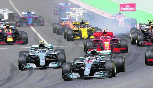 Der Start hat für Lewis Hamilton beim Grand Prix in Barcelona alles geregelt. Der Weltmeister fuhr im Mercedes allen davon.gepa