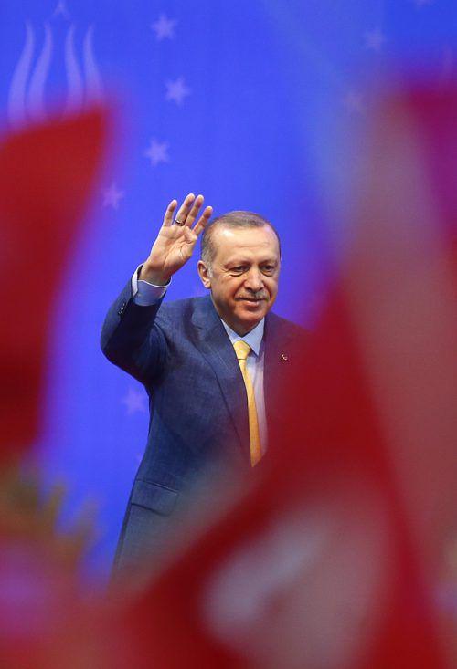 Der türkische Präsident warb um die Stimmen der Auslandstürken. reuters