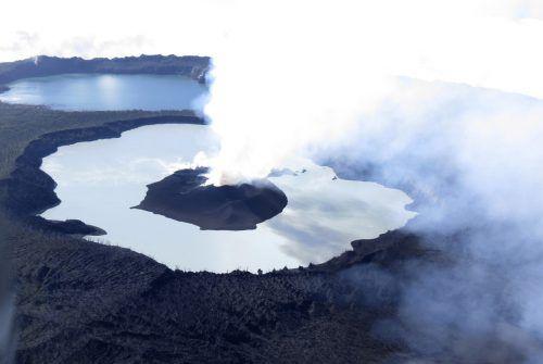 Der Vulkan Manaro zwingt die Bewohner von Ambae zum Umzug. AP