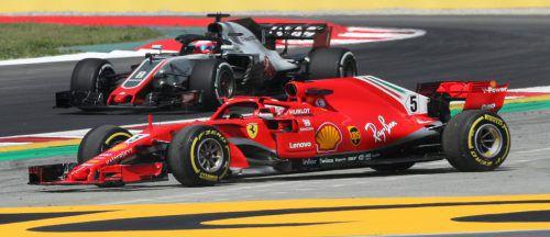 Der windig-rutschige Auftakt in den Europa-Start der Formel 1 verlief für Sebastian Vettel noch nicht ganz nach Maß.Reuters