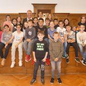 Schüler zu Besuch im Rathaus