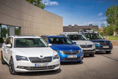 Die aktuelle Škoda-4x4-Palette umfasst vier Modellreihen: Superb, Octavia, Karoq und Kodiaq.werk