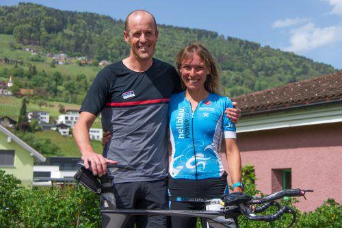 Die alten und neuen Duathlonmeister: Matthias Buxhofer und Denise Neufert. Privat