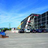 Auftakt der Bauarbeiten bei Haberkorn