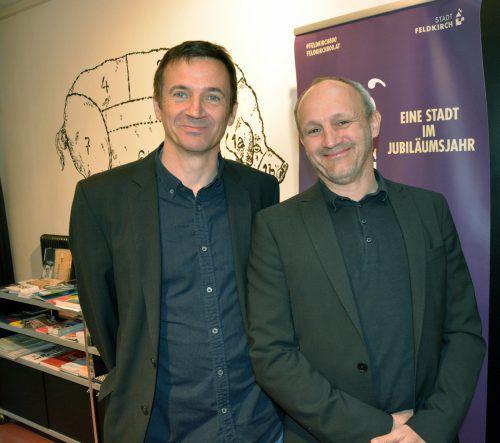 Die beiden Autoren Christian Futscher (l.) und Jürgen Thomas Ernst.