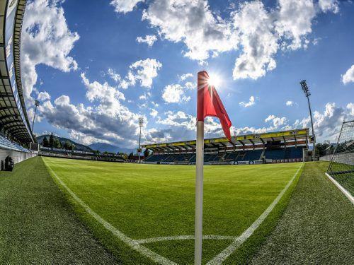 Die Cashpoint-Arena (Bild aus dem Sommer 2017) wird schon bald für die Europa-League-Qualirunden tauglich sein.???