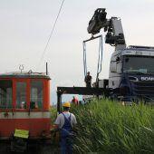 Das Rheinbähnle ist wieder auf dem Gleis