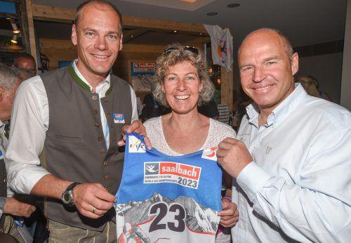 Die Ex-Skiasse Michael Walchhofer, Petra Kronberger und Marc Girardelli müssen auf eine alpine WM in Österreich noch ein paar Jahre warten.APA/ÖSV/ERICH SPIESS