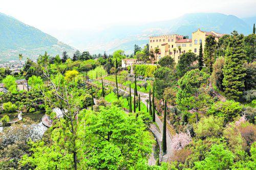 Die Gärten von Schloss Trauttmansdorff laden zu einer botanischen Reise ein.