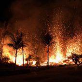 Lavaströme des Vulkans Kilauea ziehen Schneise der Zerstörung
