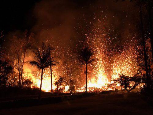 Die Gemeinde Leilani Estates kämpft gegen Lavafontänen, giftige Gase und Dampf. AFP