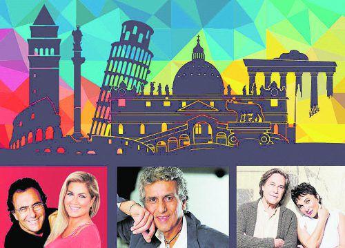 Die größten Italo-Stars treten am 8. Juni 2018 auf der Seebühne auf. veranstalter