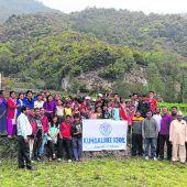Eine Bambushalle für Nepal