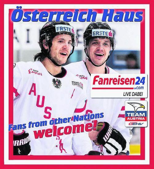 Die Ländle-Cracks Manuel Ganahl und Daniel Woger sind die Testimonials für das Österreich-Haus bei der Eishockey-WM in Kopenhagen.öehv